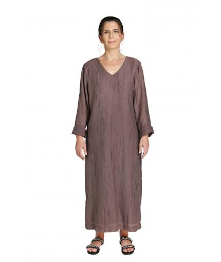 Taupe linen dress