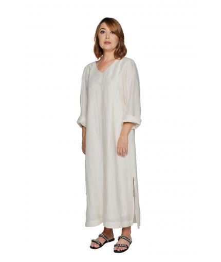 Vanilla linen dress