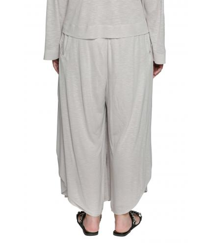 Layered beige trousers