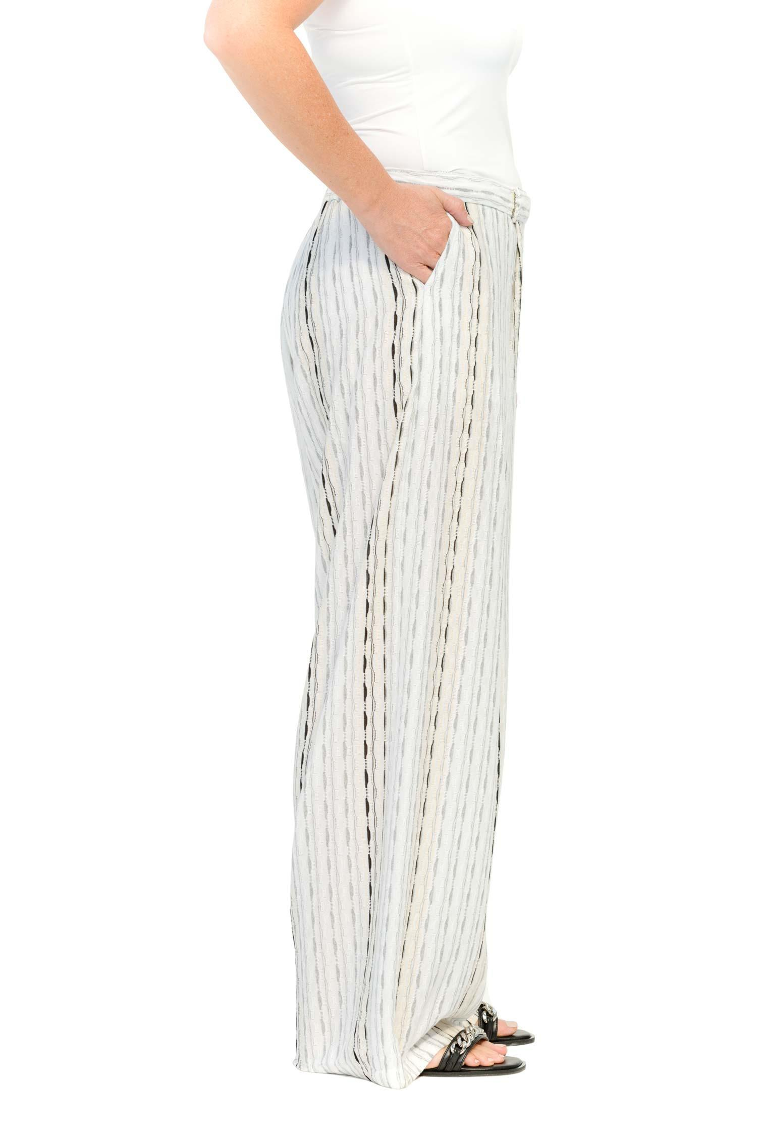 Cotton-jersey trousers with decorative stripes