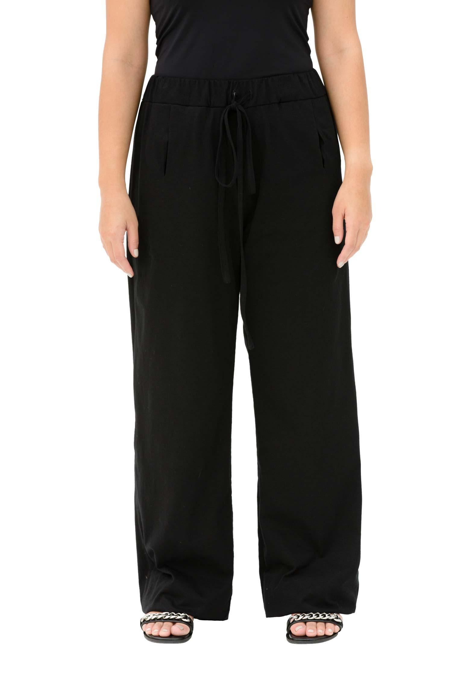Cotton-jersey trousers with elasticated waistband