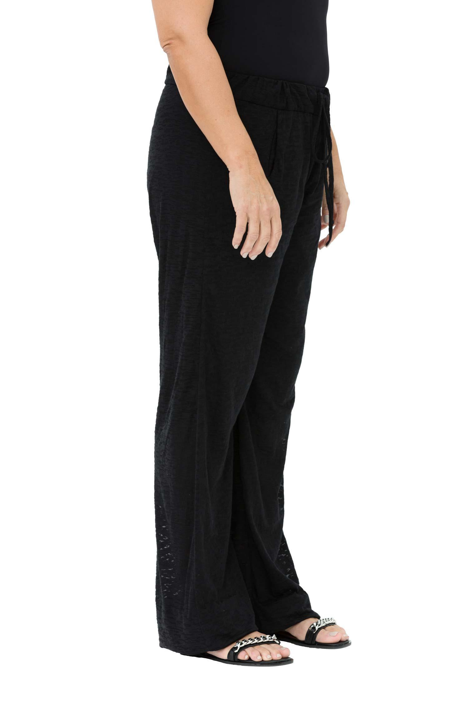 Sheer cotton-jersey trousers with elasticated waistband