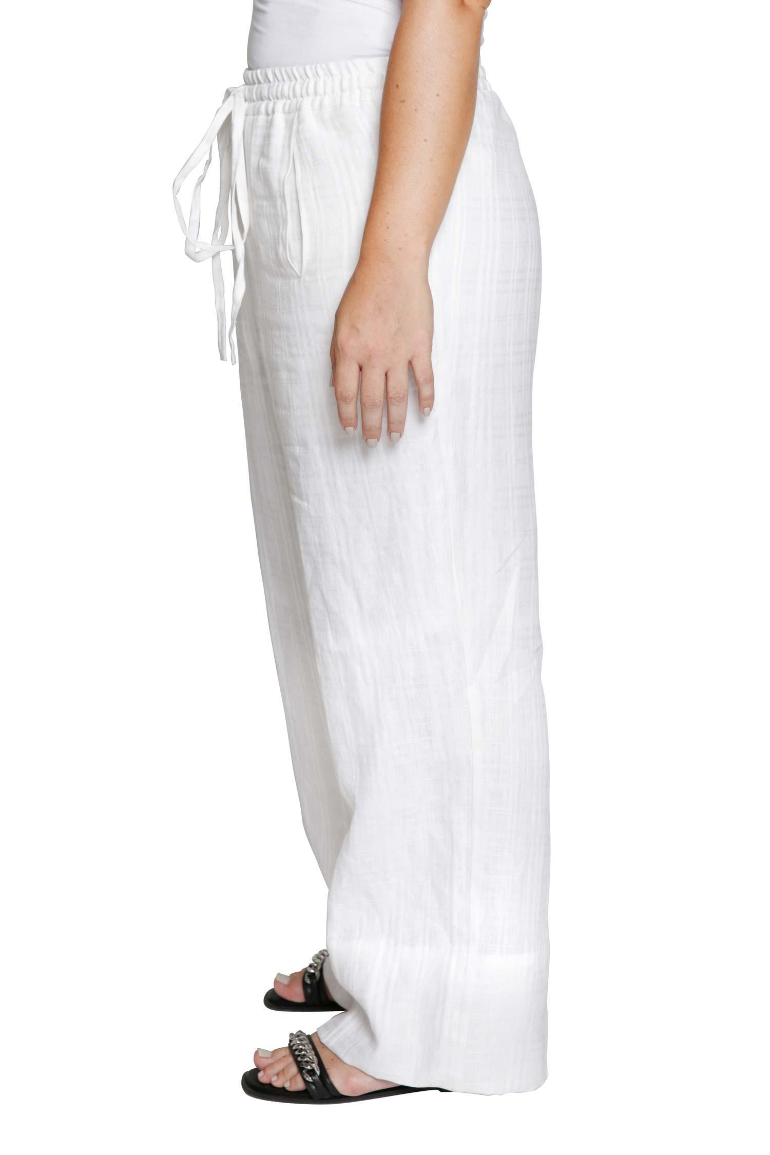 White linen trousers