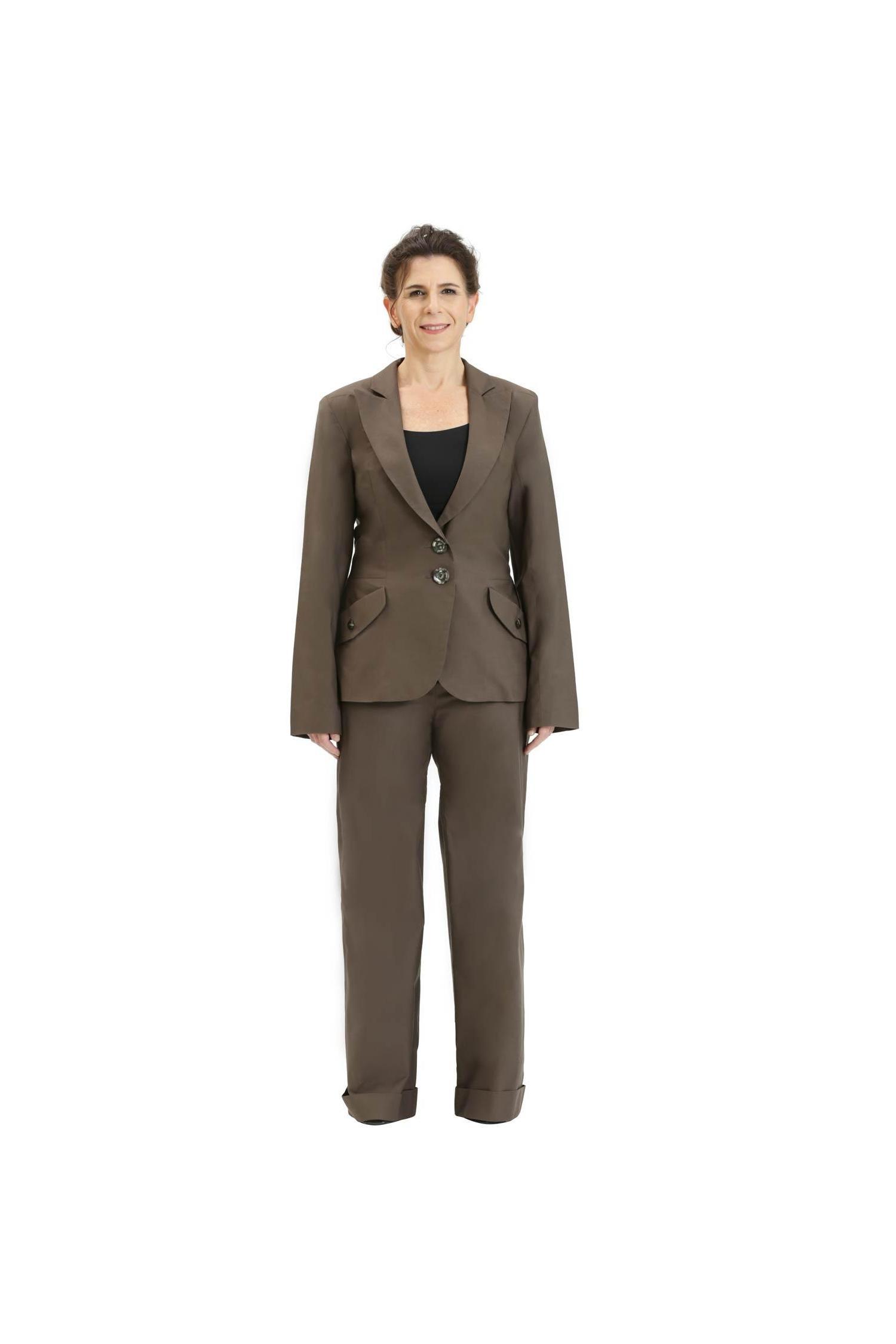Dark khaki elegant blazer