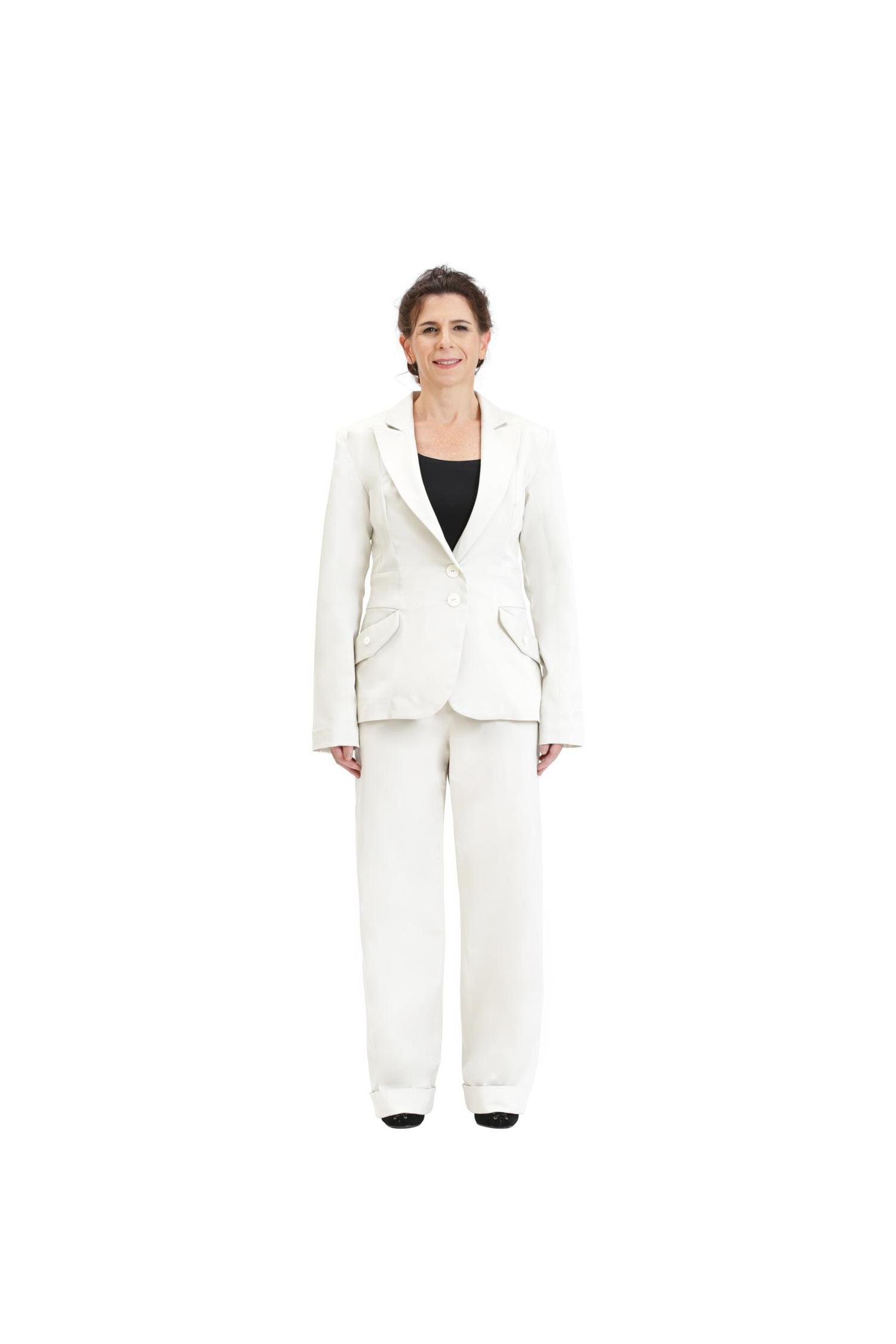 Natural color elegant blazer