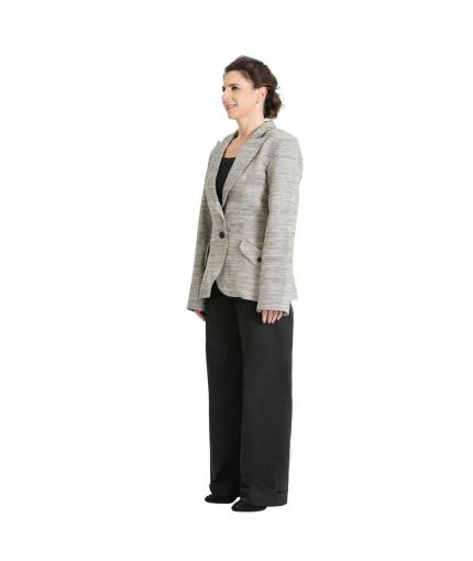 Hip length blazer | Precious Raw Silk Collection