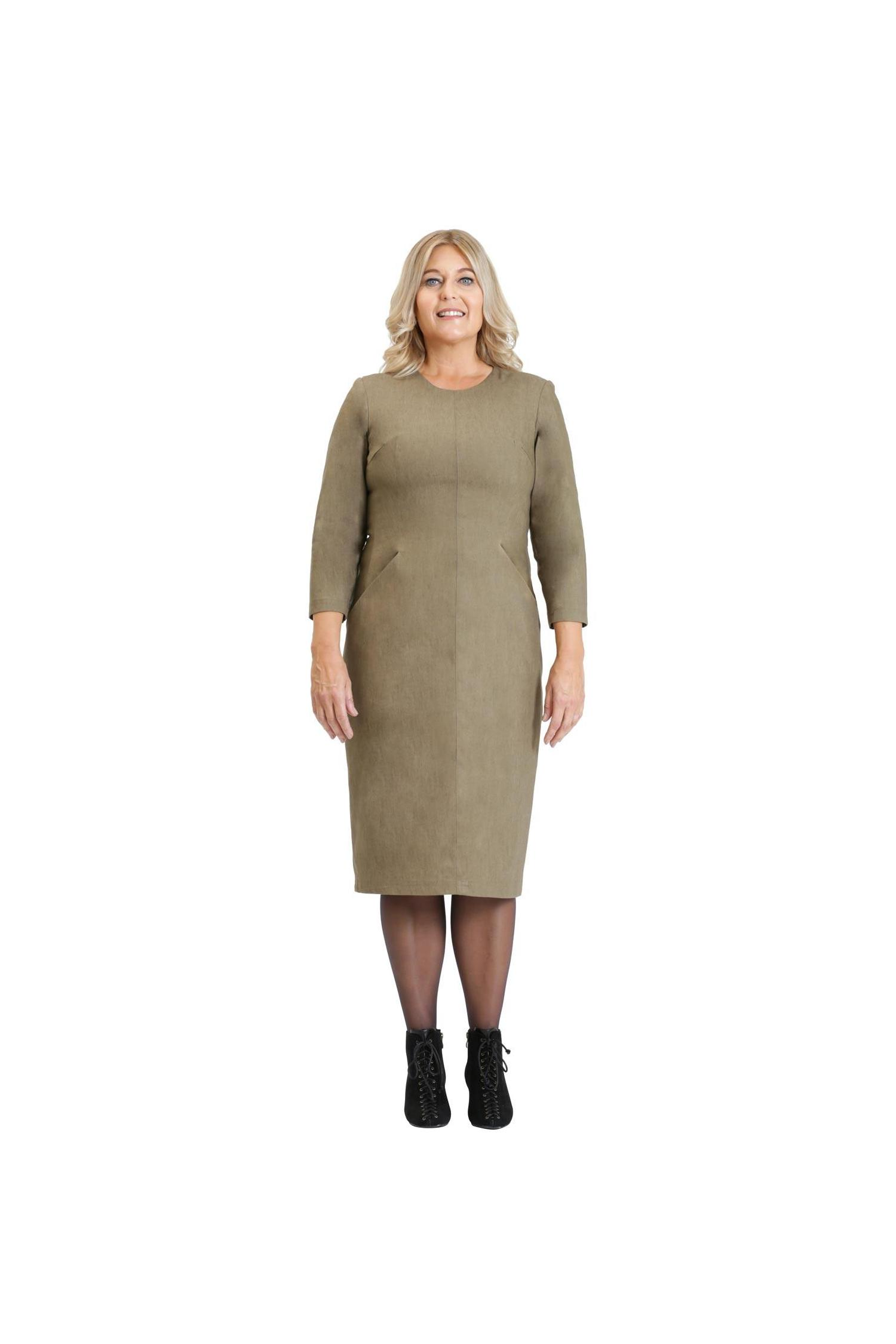 Smart copper dress