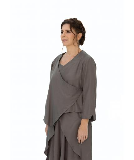 Crossover khaki top