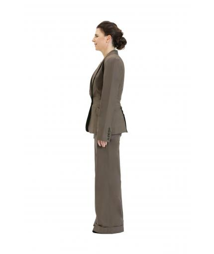Dark khaki elegant trousers