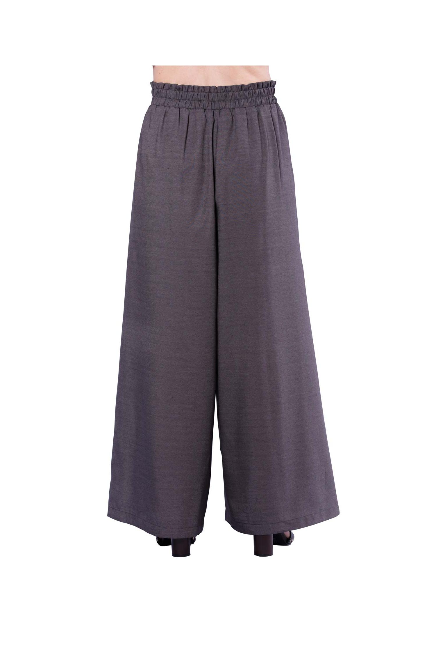 Drawstring pant with front slits