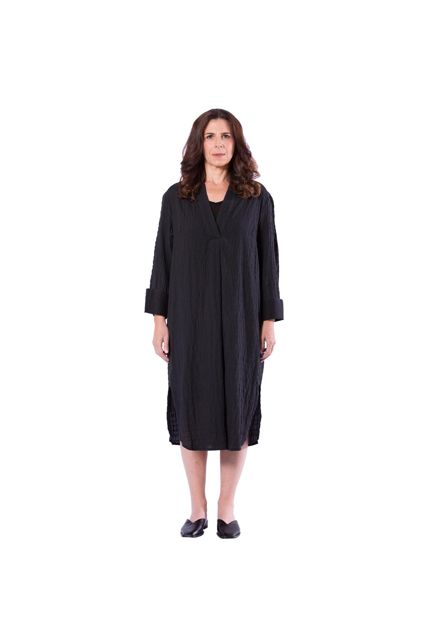 Black relaxed dress | shirt