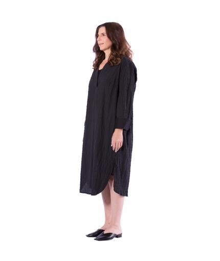 Black relaxed dress | shirt