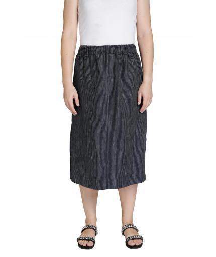 Striped A-line skirt