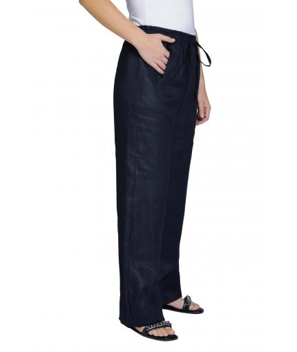 Dark blue linen trousers